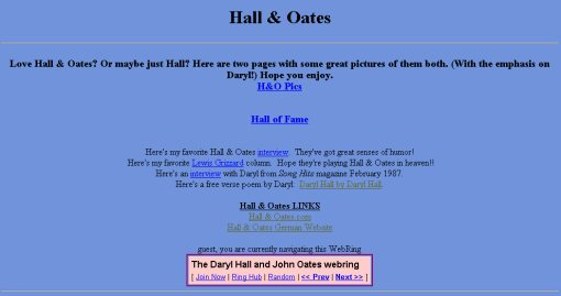 Nesie's NetEscape - Hall & Oates page